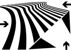 提取设计透视图 向量例证