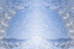 提取霜冰模式对称的视窗 免版税库存照片