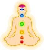 提取chakra模板瑜伽 库存照片