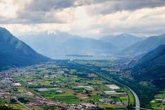 提契诺州谷,瑞士 免版税库存图片