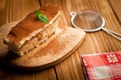 提拉米苏蛋糕 免版税图库摄影