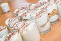 提拉米苏,传统意大利奶油点心自创d 图库摄影