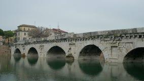 提比略罗马桥梁在里米尼意大利 影视素材