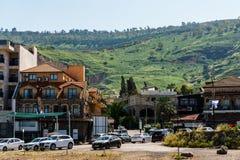 提比里亚,以色列- 2018年3月31日:街道视图在老城提比里亚以色列 免版税库存图片