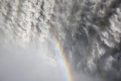 黛提瀑布瀑布 库存照片