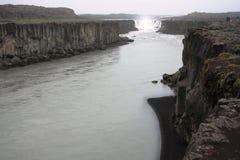 黛提瀑布瀑布 库存图片
