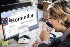 提示计划者日历事件概念 免版税库存照片
