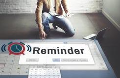 提示计划者日历事件概念 免版税图库摄影