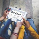 提示计划者日历事件概念 免版税库存图片