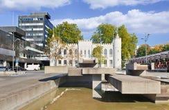 提耳堡大学,荷兰古城大厅  免版税库存照片