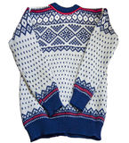 提花织物北欧人毛线衣 库存图片