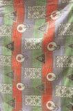 提花织物宋绒线染料沙发织品 免版税库存照片