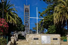 提高到纳尔逊大教堂,纳尔逊,新西兰 免版税库存照片