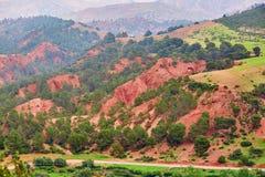 提齐乌祖省n Tichka通行证,摩洛哥,非洲 免版税图库摄影