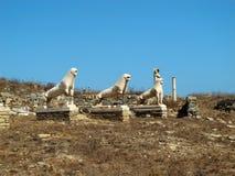 提洛岛石狮子  库存图片