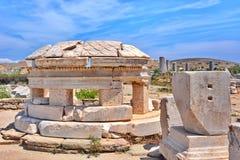 提洛岛考古学站点 免版税图库摄影