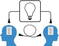 插入人加入循环光连接数 库存照片