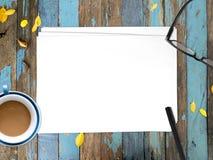 插入文本的空的白皮书文件 库存图片