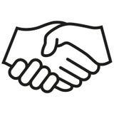 握手传染媒介象 为图表和网络设计隔绝的黑例证 向量例证