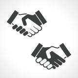 黑握手传染媒介象 免版税图库摄影