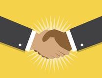 握手和合作 向量例证