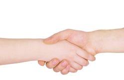 握手姿态 免版税库存图片