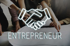 握手成交协议公司业务概念 库存照片