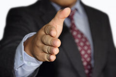 握手提供 免版税库存照片