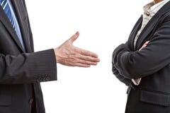 握手提案 免版税图库摄影