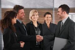 握手的业务伙伴 免版税库存照片