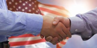 握手的两个人的综合图象 库存图片