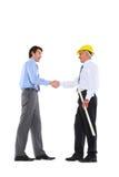 握手的二个人 免版税库存照片