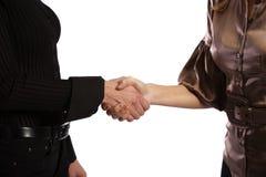 握手的二个女孩 图库摄影