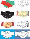 握手的例证,例证 免版税库存图片