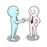 握手的商人 免版税库存照片