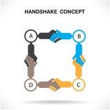 握手的商务伙伴作为团结,握手的标志 免版税库存照片