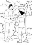 握手的回教人 皇族释放例证