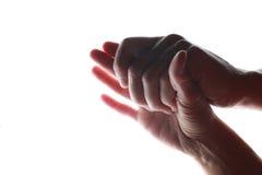 握手的男人和妇女 图库摄影