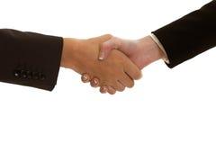 握手被隔绝的 免版税库存照片