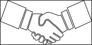 握手,传染媒介,以图例解释者,手 向量例证