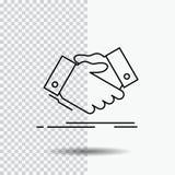 握手,手震动,握手,协议,在透明背景的行业象 r 皇族释放例证