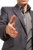 握握手的商人手 免版税库存图片