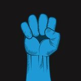 握紧拳头手传染媒介。 库存图片