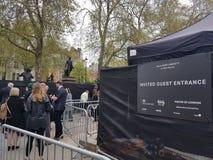 揭幕主张扩大参政权者在议会正方形,伦敦的` s雕象 免版税库存照片