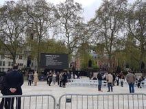 揭幕主张扩大参政权者在议会正方形,伦敦的` s雕象 免版税库存图片