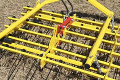 搂草机农业机械equipmen 种植播种机弹簧的农业机械 免版税库存图片