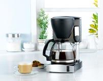 搅拌器咖啡设备 免版税库存图片