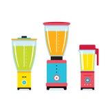 搅拌器榨汁器搅拌器厨房器具在白色隔绝的象集合 向量例证