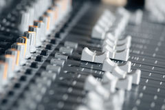搅拌机记录声音工作室 免版税图库摄影