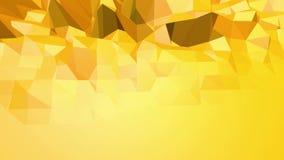 搏动黄色低多的背景 作为元素行动图表的抽象低多表面在时髦的低多设计 向量例证
